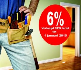 BTW op verbouwingen blijft 6%